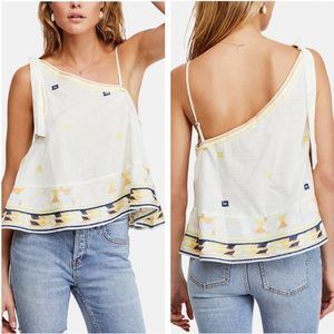NWT Free People Bali Baby Embroidered Tank Top